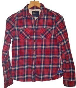 4/$25 A.Eagle Wmns Flannel Plaid Long Sleeve Shirt